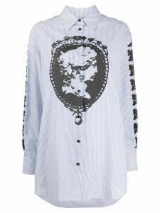 McQ Alexander McQueen cameo print striped shirt - Blue