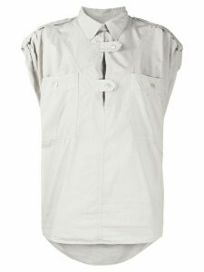 Isabel Marant Étoile button tabs blouse - Grey