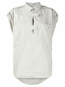 Isabel Marant Étoile button tabs blouse - Grey