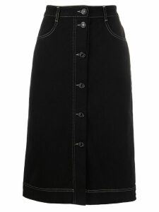 See by Chloé high rise denim skirt - Black