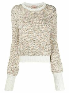Nude loop knit jumper - White