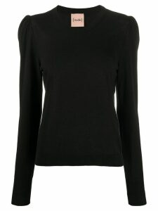 Nude fine knit jumper - Black