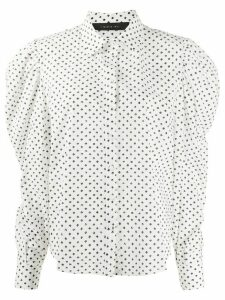 Federica Tosi dotted puff-sleeves shirt - White