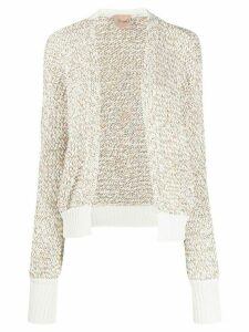 Nude loop knit cardigan - White