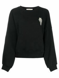 Alexandre Vauthier oversized crystal-embellished sweatshirt - Black