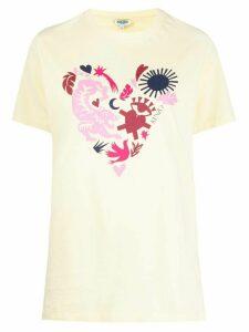 Kenzo abstract heart print T-shirt - Yellow