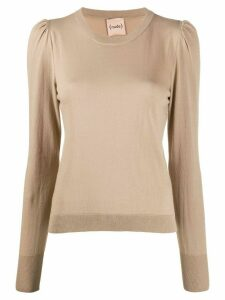 Nude fine knit jumper - NEUTRALS