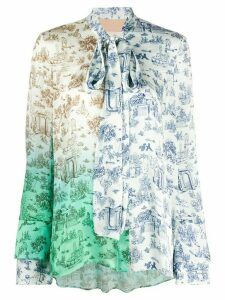 Ssheena floral blouse - White
