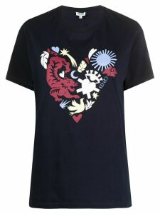 Kenzo abstract heart T-shirt - Blue