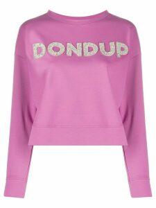 Dondup embellished logo sweatshirt - PINK