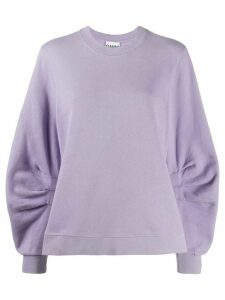 GANNI Isoli organic-cotton sweatshirt - PINK