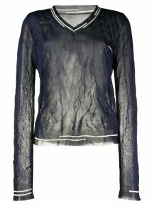 Maison Margiela sheer V-neck jumper - Blue