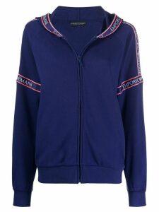 Emporio Armani logo stripe hoodie - Blue