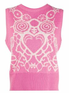 Charles Jeffrey Loverboy sleeveless knitted top - PINK