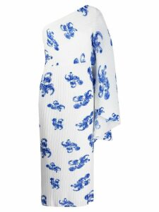 Solace London Lila octopus print pleated dress - White