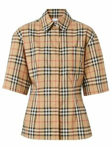 Burberry Vintage Check short-sleeved shirt - NEUTRALS