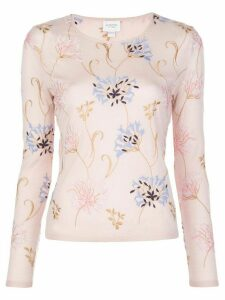 Giambattista Valli floral embroidered jumper - PINK