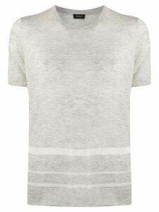 Joseph striped knitted T-shirt - Grey