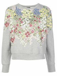Giambattista Valli floral embroidered sweatshirt - Grey