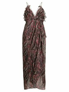 IRO metallized draped detail dress - PINK