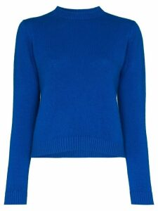 The Elder Statesman cropped cashmere sweater - Blue