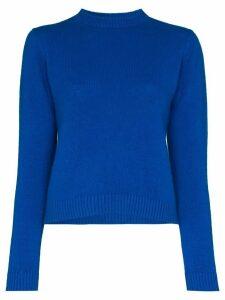 The Elder Statesman cropped cashmere sweater - Blue