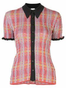 M Missoni slim fit plaid shirt - Red