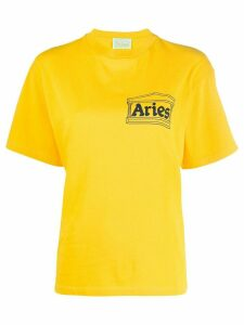Aries crew-neck logo T-shirt - Yellow