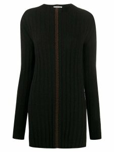 Jil Sander knitted long-sleeve jumper - Black