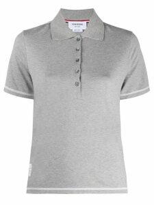 Thom Browne stitch trim polo shirt - Grey