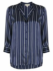 L'Agence silk striped shift blouse - Blue