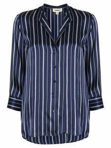 L'Agence silk striped shift blouse - Blue