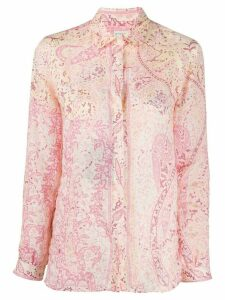 Etro long sleeve floral print shirt - PINK