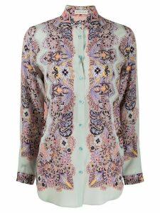 Etro paisley-print silk shirt - Blue