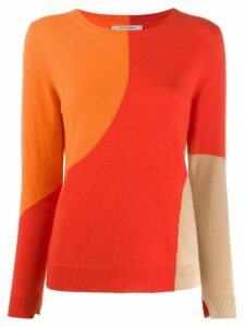 Chinti and Parker panelled crew-neck pullover - Red
