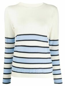Chinti and Parker striped slim-fit jumper - White