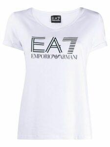 Ea7 Emporio Armani logo T-shirt - White