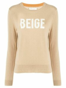 Chinti and Parker Beige jacquard cashmere jumper - White