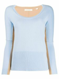 Chinti and Parker two-tone knitted top - Blue
