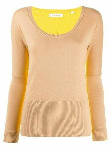 Chinti and Parker fitted two-tone pullover - NEUTRALS
