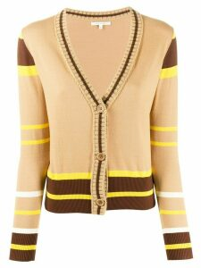 Chinti and Parker striped pattern cardigan - Brown