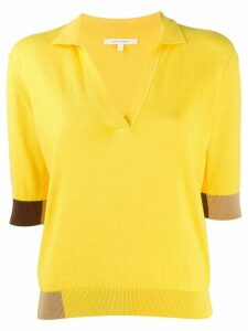 Chinti and Parker short-sleeved panelled pullover - Yellow
