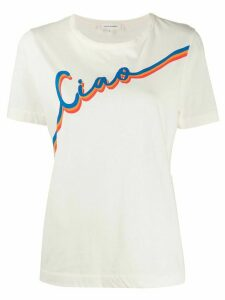 Chinti and Parker relaxed-fit 'ciao' T-shirt - NEUTRALS