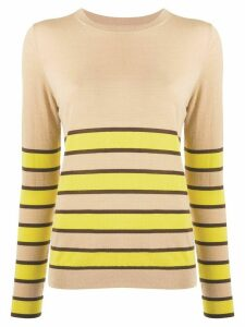 Chinti and Parker striped crew-neck pullover - NEUTRALS