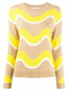 Chinti and Parker wave print jumper - Brown