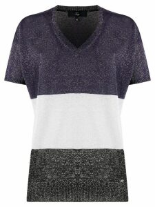 Fay v-neck knitted top - Blue