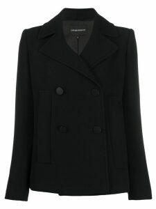Emporio Armani short double breasted jacket - Black