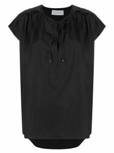 Christian Wijnants Taping short-sleeve blouse - Black