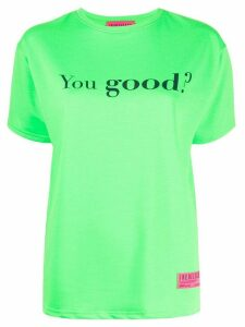 irene is good slogan print T-shirt - Green