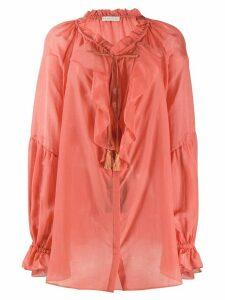 Etro oversized ruffle trim blouse - PINK